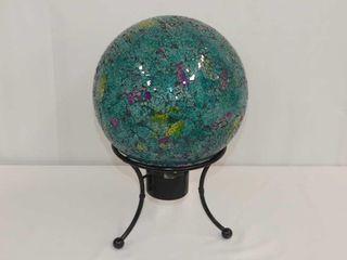Glass Globe on Metal Stand
