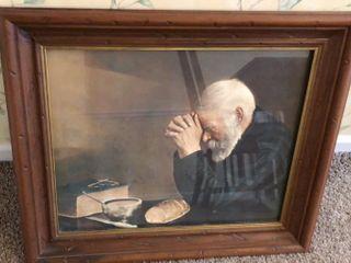 Man Praying Framed Print