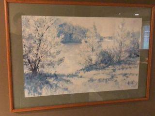 Horning Framed landscape Print