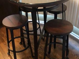 High Top Table with 4 Stools