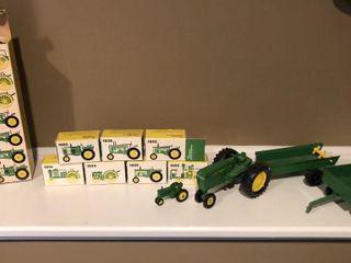7 John Deere Miniature Tractors and Ertl John Deer