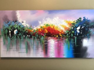 Abstract Oil Painting on Canvas 60 x30