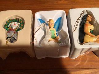 3  Disney Christmas Ornaments