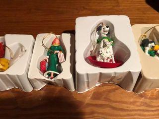 4  Disney Character Christmas Ornaments