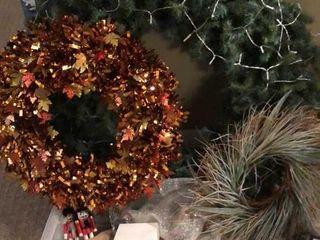 large 42  Wreath and Christmas Decor