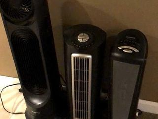 2 Tower Fans and Space Heater