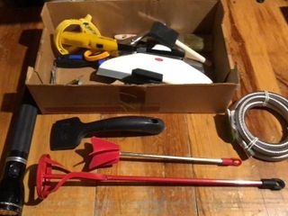 Box of Tools  Maglite  Paint Brushes  etc