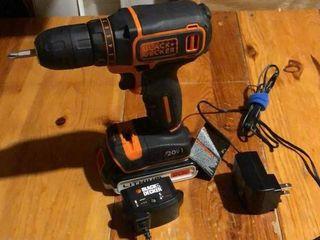 Black and Decker 20V Cordless Drill