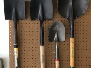 4  Shovels  Spade and Scoop