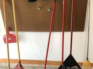 3 Rakes and 3 Brooms