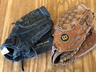 Wilson and Mizuno Ball Gloves