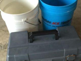 Toolbox and 5 Gallon Buckets