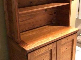 Solid Wood Storage Hutch