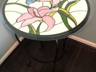 Stained Glass Top Side Table