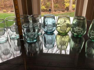 9  Embossed Drinking Glasses