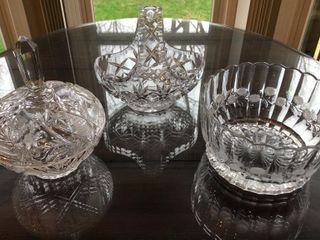 3  Crystal Bowls