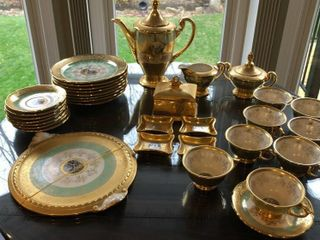 33 Piece le Mieux China 24K Gold Decorated