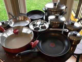 9 pc  Skillets  Pans  Pots