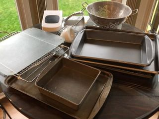 Cookie Sheets  Baking Pans  Sifter  Colander