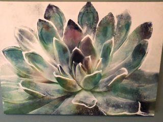 Flower Print on Canvas
