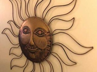 Carved Wooden Wall Decor and Sun