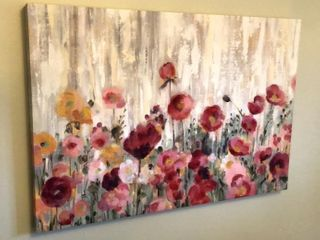 Floral Print on Canvas
