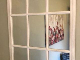 White Window Frame Mirror