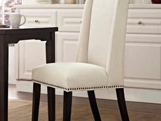 Single Baron Upholstered Dining Chair   Beige