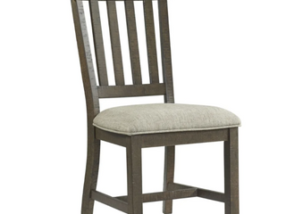 Pair of Sullivan Burnished Clay Slat Back Side Dining Chairs