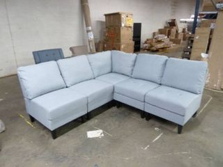Soft Grey Tufted Sectional