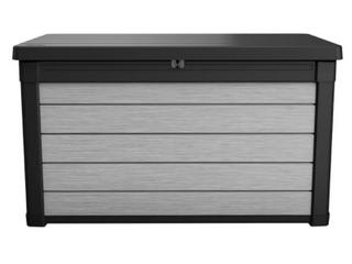 Keter Denali 100 Gallon Plastic Deck Box   Black