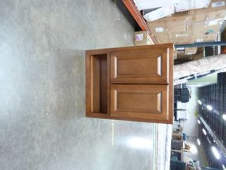 Brown Wood Wall Mounted Storage Cabinet