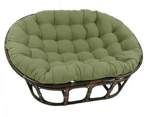 Blazing Needles 65  Micro Suede Double Papasan Cushion   Sage Green