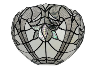 Amora lighting Tiffany Style White Floral Wall Scone lamp