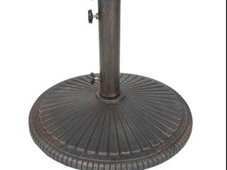 Abble Cast Iron Umbrella Base   Bronze