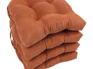 Blazing Needles 16  U Shaped Micro Suede Outdoor Indoor Cushions   Spice