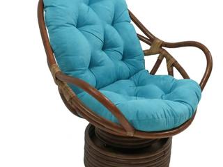 Blazing Needles 48  Swivel Rocker Cushion   Aqua Blue