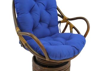 Blazing Needles 48  Swivel Rocker Cushion   Royal Blue