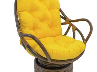 Blazing Needles 48  Swivel Rocker Cushion   Yellow