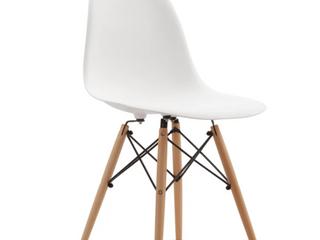 Best Master Furniture Carson Carrington Karlsborg Med Century Dining Chairs   White   Set of 4