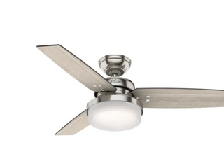 Hunter 44  Sentinel Ceiling Fan   Grey Walnut light Grey Oak Blade