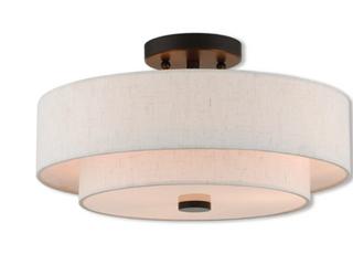 living lighting 51084 92 Claremont 3 light Bronze Indoor Flush Mount   English Bronze