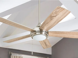 Honeywell 52  Ceiling Fan   Brushed Nickel Finish w  Ancient Pine White Blades
