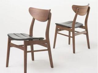 Pair of Anise Rectangular Dining Chairs   Dark Brown