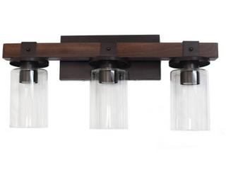Elegant Designs Industrial Rustic lantern  Wood look Vanity    Brown