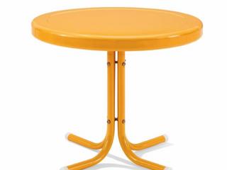 Crosley Howard Bay Tangerine Metal Outdoor Table