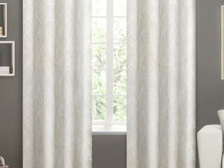 ATI Home Vanilla Twig Insulated Blackout Curtains   Set of 3