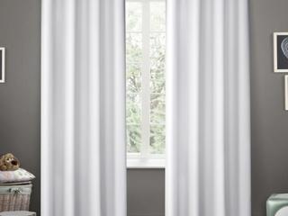 Pair of ATI Home Sateen Room Darkening Curtains   White