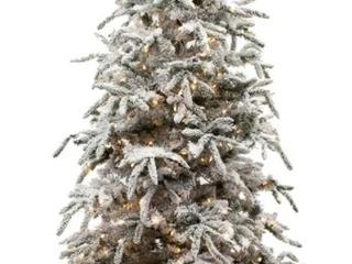 7 5  Flocked Balsam Pine Christmas Tree