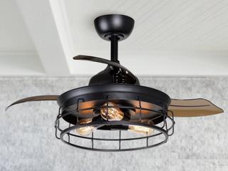 Industrial 36  Black 3 Blade Ceiling Fan